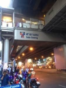 BTS Sala Daeng Train Station West